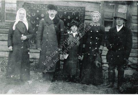 Emma, Samuli, Elsa, Laina ja Sakari Metsäraukola